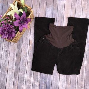 Motherhood maternity pants brown corduroy M #327